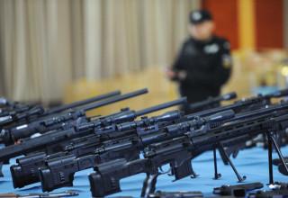 Полиция Китая конфисковала рекордную партию нелегального оружия