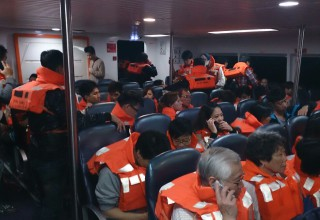Более 30 человек пострадали в результате столкновения судов в акватории Гонконга