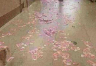 Китаец швырнул в бросившую его ради другого девушку миллион юаней