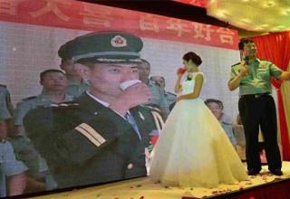Пограничник из Синьцзяна женился на своей возлюбленной по видеосвязи