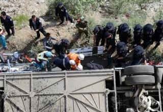 В Тибете 44 человека погибли в результате падения автобуса в пропасть
