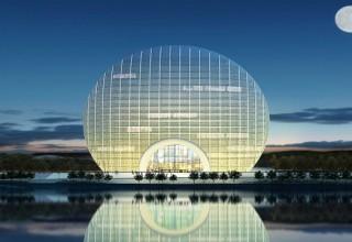 Около Пекина построили отель в виде восходящего солнца