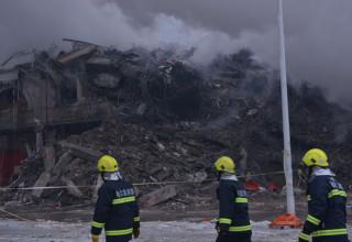 Пять пожарных погибли при тушении склада в Харбине