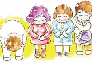 Супруги из Ханчжоу нарисовали открытки с извинениями за плачущего ребенка