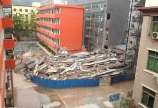 В Шэньчжэне развалилось здание школы