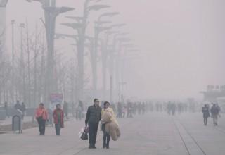 Из-за сильного смога в Пекине объявлен повышенный уровень опасности