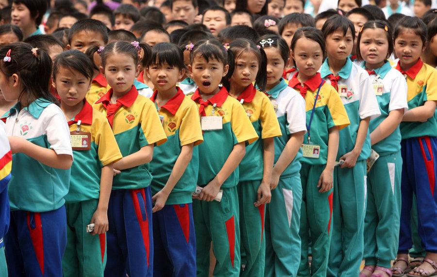 школьники в Китае Сычуань землетрясение