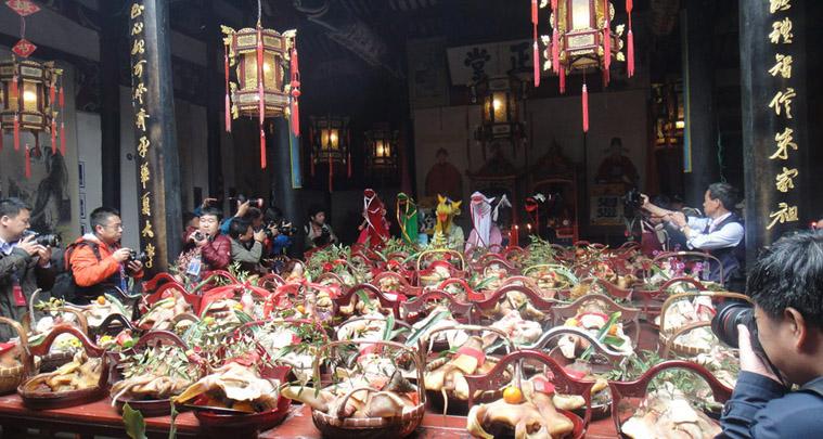 праздник головы свиньи в Китае