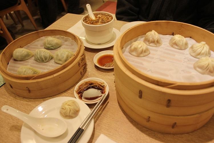 Сяолунбао в ресторане Din Tai Fung в Тайбэе