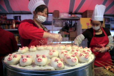 свинина в Китае