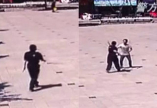 Сотрудница полиции в Китае голыми руками сражалась с вооруженным грабителем