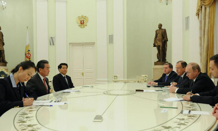 путин встретился с главой мида Китая