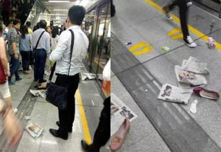 Девять человек пострадали в давке в метро южнокитайского города Шэньчжэнь (ВИДЕО)