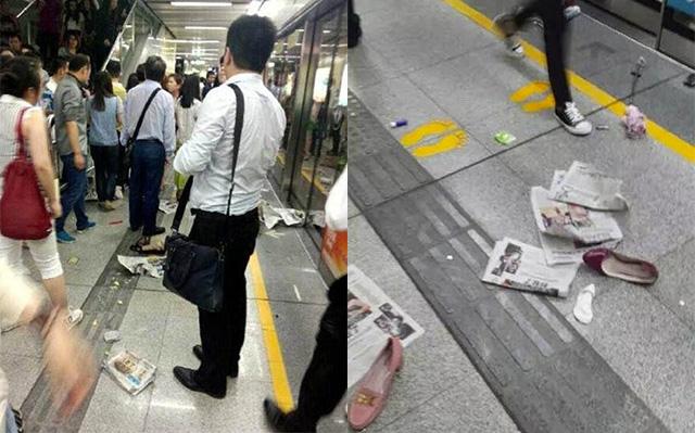давка в метро в китае