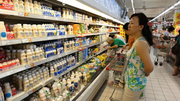 молоко в китае