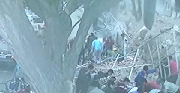 обрушение стены в Ланьчжоу