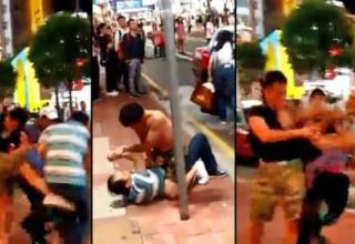 В Гонконге турист из КНР подрался с японцем из-за такси