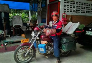 Китайский пенсионер в одиночку совершил путешествие по шести странам на мотобайке