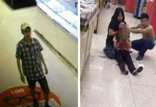 В Китае мужчина перерезал горло сотруднице супермаркета при попытке кражи