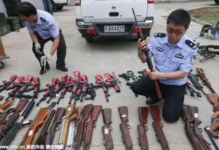 В Китае раскрыто дело о незаконной продаже оружия через интернет