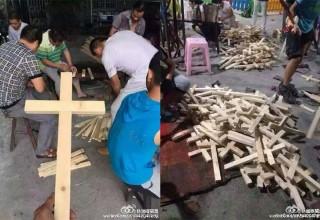 Китайские христиане протестуют против демонтажа крестов с церквей