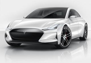 В Китае создали копию автомобиля Tesla Model S