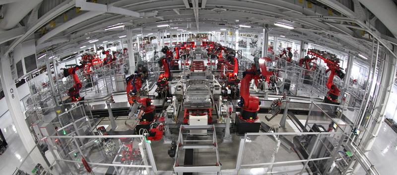 фабрика из роботов  в китае