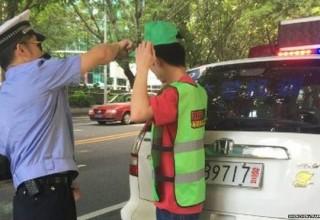 Зеленые кепки помогут китайской полиции бороться с пешеходами-нарушителями
