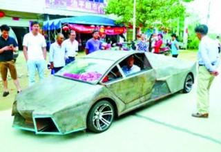 Китаец своими руками собрал копию Lamborghini