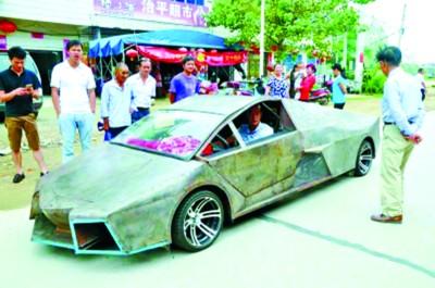 китаец собрал копию Lamborghini