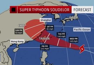 В выходные самый мощный тайфун года достигнет побережья Китая
