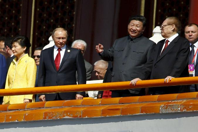 Владимир Путин, Си Цзиньпин, Пэн Лиюань, Цзян Цзэминь