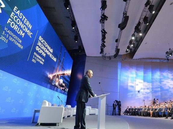 Владимир Путин на пленарном заседании ВЭФ 2015. Фото: РИА Новости