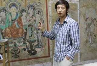 Современный китайский художник виртуозно копирует древние фрески