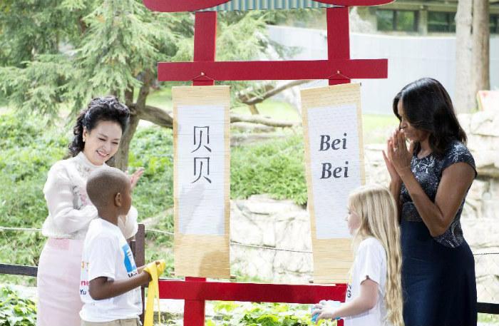 Мишель Обама и Пэн Лиюань придумали имя для панды