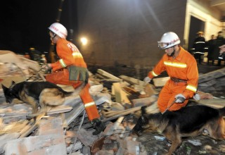 17 человек стали жертвами обрушения здания в Китае