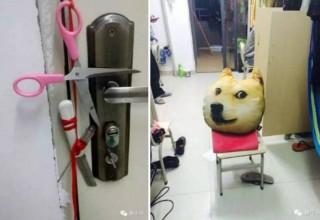 Как китайские студенты охраняют имущество в общежитии