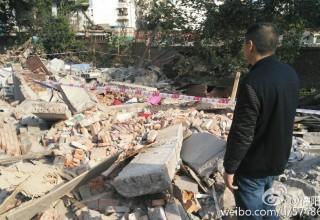 В Китае застройщики снесли частный дом «по ошибке»