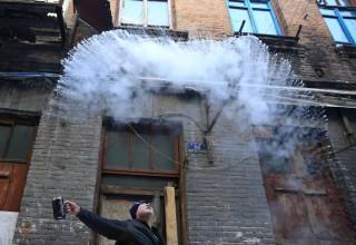 Жители Харбина развлекаются в -36°C