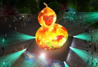 Обезьяна-горлянка: Тайвань обсуждает странный новогодний фонарь