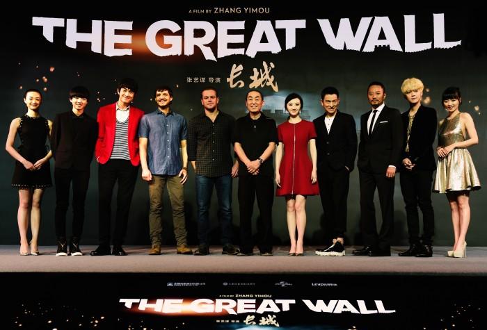 Каст фильма «Великая китайская стена», реж. Чжан Имоу.