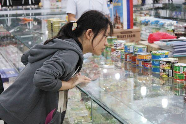 российские продукты в Китае
