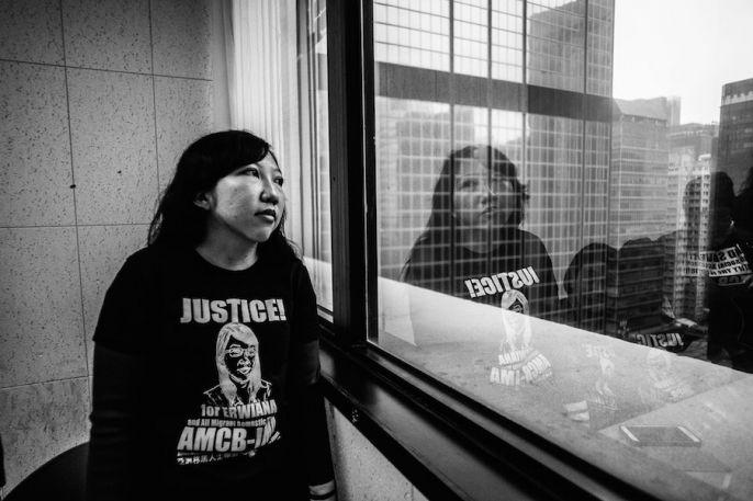 Эрвиана Сулистянинсих, домработница, подвергавшаяся пыткам со стороны своей работодательницы. Фото: Xyza Cruz Bacani