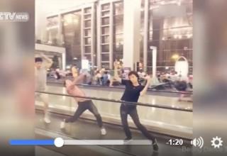 Импровизированное выступление пекинских танцоров в аэропорту собрало 17 млн просмотров за 3 дня