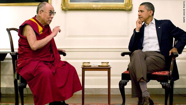 Обама встретился с Далай-ламой