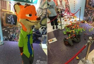 Ребенок разрушил скульптуру из LEGO стоимостью $15 000 на выставке в Китае