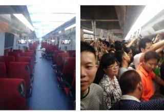 Первые вагоны бизнес-класса в китайском метро не пользуются высоким спросом