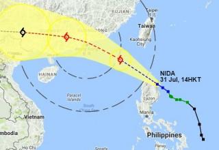 На юге Китае объявлен желтый уровень опасности из-за тайфуна «Нида»