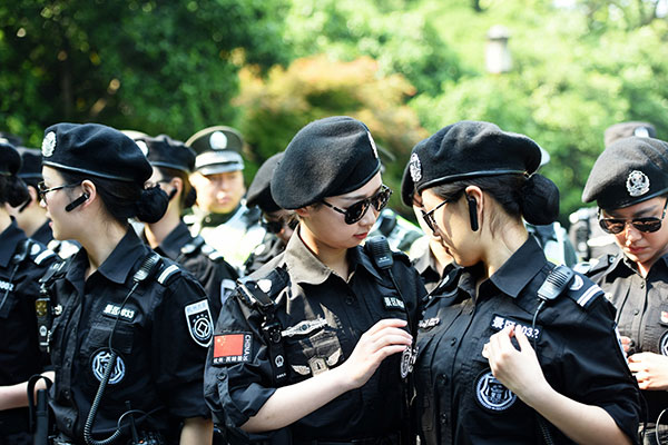 Women's patrol in Hangzhou
