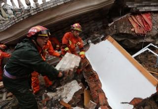 15 человек спасены после схода оползня в Восточном Китае